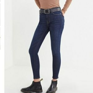 BDG UO Twig High Rise Dark Wash Skinny Jeans NWT
